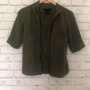 Express army green zip up